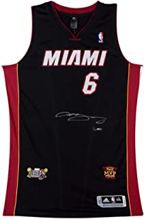 LeBron James Signed 2013 Dual Patch Miami Heat Authentic Jersey , UDA - Limited to 13