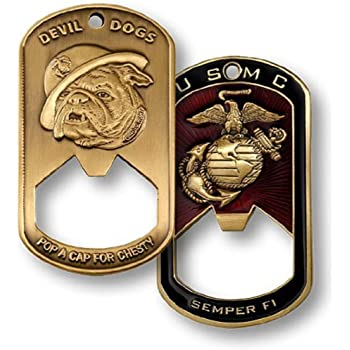 amazon com u s marine corps semper fi devil dogs dog tag bottle opener kitchen dining us marine corps semper fi devil dogs dog tag bottle opener