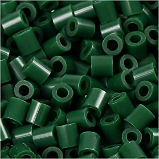 PhotoPearls, size 5x5 mm, hole size 2,5 mm, dark green (9), 6000pcs