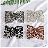 Lovef 4Pcs/Pack Crystal Rhinestone Easy Combs Magic Beaded Double Stretching Combs