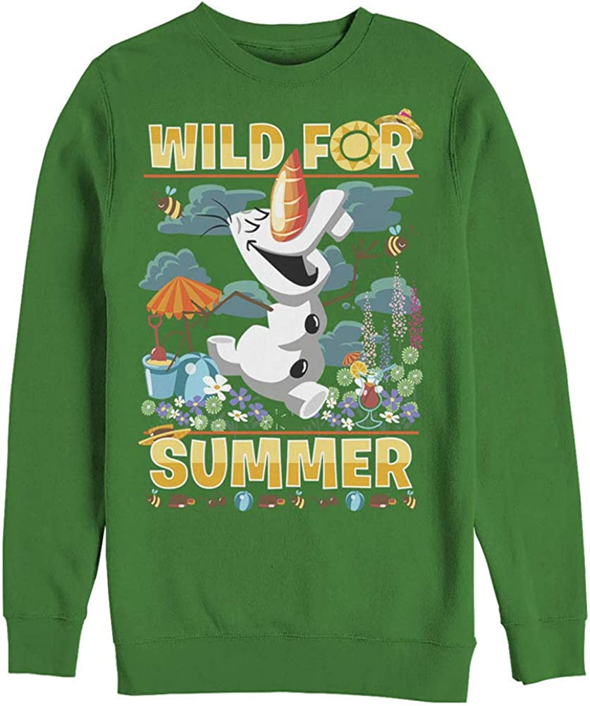 Fifth Sun Men's Frozen Olaf Wild for Summer Sweatshirt
