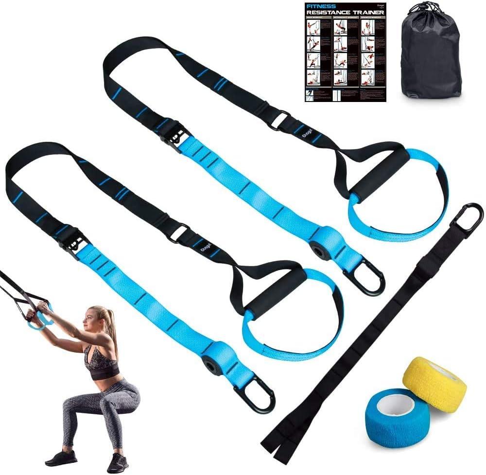 Dusgut Entrenamiento en Suspensión, Bandas Elásticas Fitness, Mejora la Flexibilidad y el Equilibrio, Adecuado para Entrenamiento Muscular, Entrenamiento Central, Ejercicio Aeróbico
