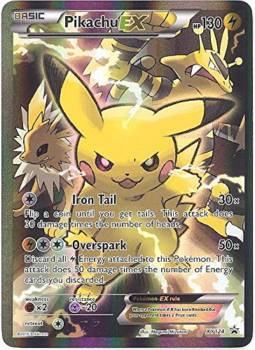 Pikachu-EX - XY124 - Red and Blue Collection: Pikachu-EX Box Promo - XY Black Star Promos