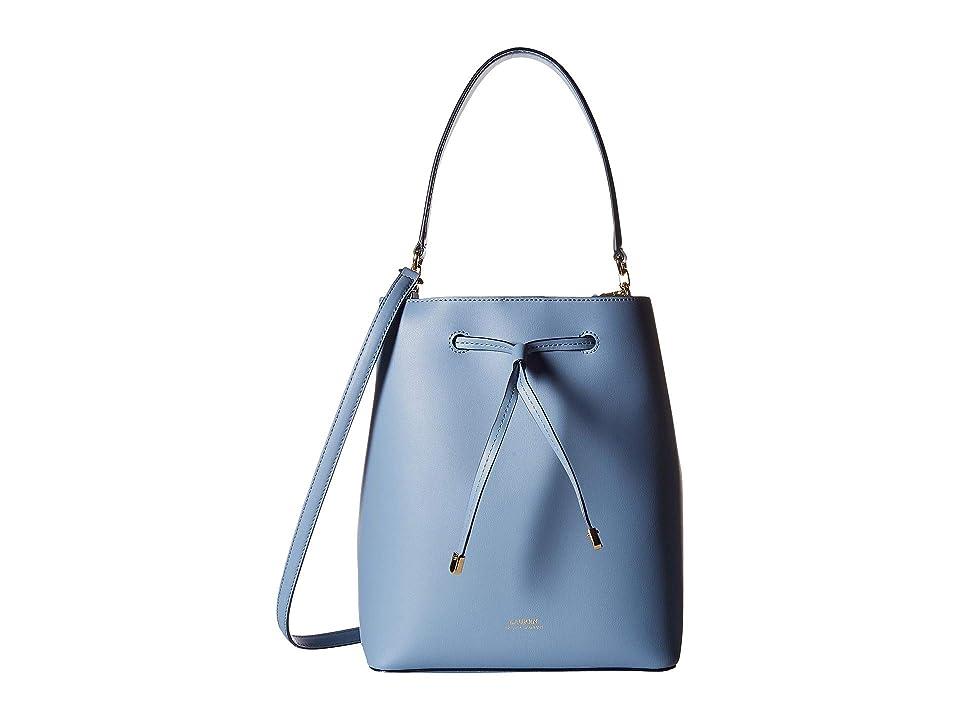 LAUREN Ralph Lauren Dryden Debby Drawstring Medium (Blue Mist Cosmic Blue) Drawstring  Handbags 1a4b15c01233b