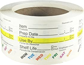 """Dissolvable Food Rotation Labels, 2"""" x 3"""" Adhesive Stickers, 500-Pack"""