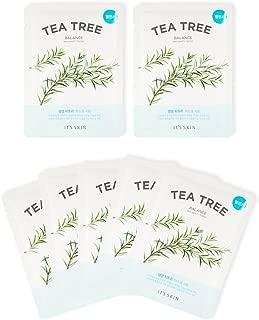 Its Skin the Fresh Tea Tree Mask Sheet, Green, 10 ml (Pack of 5)