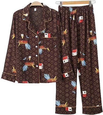 Pijama De Satén para Mujer,Pijamas De Satén De Seda De Hielo ...