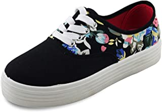 Flower Women Canvas Shoes Female Shoes Woman Footwear Height Increase Flat Shoes