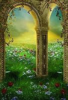 Yeele 3x 5ft Dreamy Garden Backdrop Colourful Meadow花風景写真背景ベビーFairy Girl Boy Adult Portrait写真ブース撮影ビニール壁紙Studio小道具
