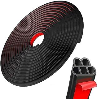 Moonmen 16 Meters/52FT Car Door Seal Strip Rubber Seal Strip B-Type Self Adhesive Rubber Seal Automotive Rubber Seal Weath...