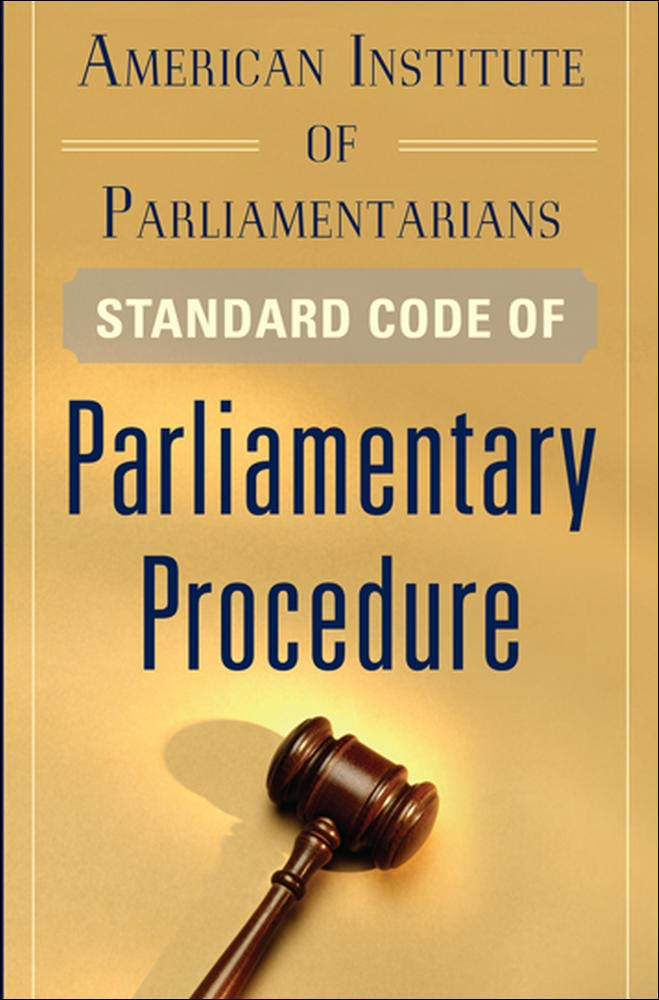 Image OfAmerican Institute Of Parliamentarians Standard Code Of Parliamentary Procedure