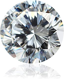 J&L Jewelry Moissanite DF Colorless Simulated Diamond Loose Stone Round Brilliant Cut VVS Clarity for Jewelry Making