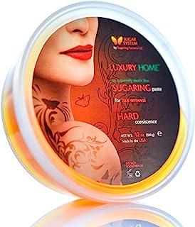 "Sugaring Paste""Luxury HOME"" – HARD for brazilian bikini - Organic Hair Removal - Long Lasting Sugar Wax"