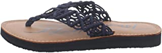 Tommy Hilfiger Th Faded Leather Footbed Sandal, Plate Femme