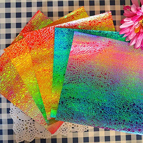 TTBH Crack Rainbowpaper Creativity Handmade Origami Cranepaper DIY Quilling Material Paper Folding Rose Crane Paper