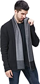 FULLRON Men Cashmere Scarf Silky/Warm - Cotton Scarves for Winter