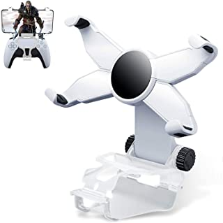 TAMIA Phone Mount Clip for PS5 Controller,Foldable Mobile Phone Holder Cellphone Clamp Gaming Holder Mount Stand Bracket f...