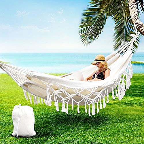 L.J.JZDY Piscina Blanca Hamaca del oscilación del jardín Cama durmiendo romántico Silla Colgante Acampar al Aire Libre del cordón del portátil