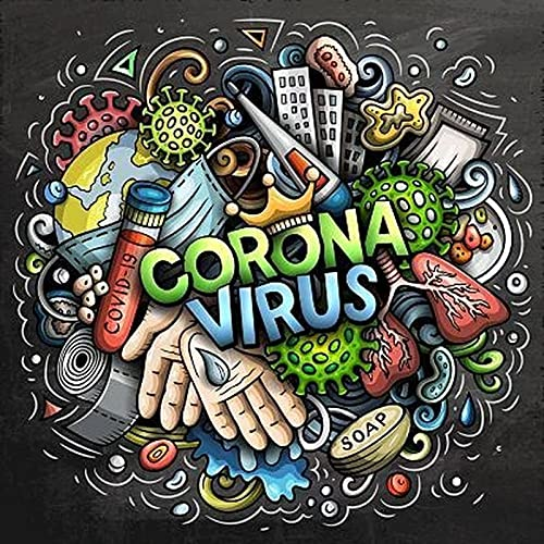 DIY Paint by Diamond Kits for Adults, Kids, Home Room Office Decoration. Gift Presents for Him Her Coronavirus 11.8x11.8 in by Ouyate