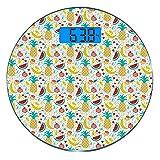 Escala digital de peso corporal de precisión Ronda Garabatear Báscula de baño...