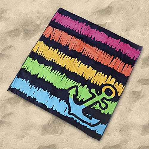 DHestia 8412491653351 - Toalla Playa Grandes Algodón Egipcio Suave de 150x175 cm/ 100X150 cm Olsen