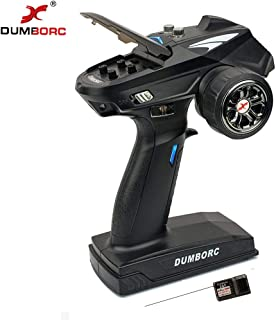 DUMBORC-X6 2.4Ghz 6 Channel RC Transmitter with Gyro Inside Receiver Low Power Alarm and Out of Control Protections Radio Controller for Remote Car/Boat/Tank Mixed Mode Remote Controller