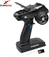 DUMBORC-X6 2.4Ghz 6 Channel RC Transmitter with Receiver Low Power Alarm and Out of Control Protection RC Radio Controller for Remote Car/Boat/Tank Mixed Mode Remote Controller …