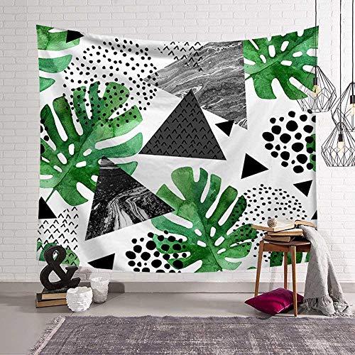 N / A Böhmische Art Wandbehang Wandteppich grünes Blatt Sukkulenten Kaktus 3D Blume Kunst Wanddekoration Teppich Decke Yogamatte Strandtuch Tapisserie Hintergrund Stoff A10 73x95cm