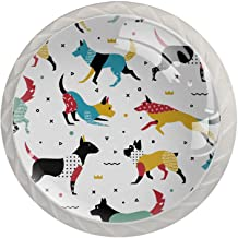 Honden in de stijl van Memphis, 4 stuks Morden stijl ABS keukenkast knoppen ronde dressoir lade handgrepen lade knoppen