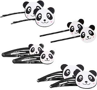 Set of 8 Cartoon Panda Bear Hair Clips Barrettes Hairpin Kids Hair Accessories For Women Girls