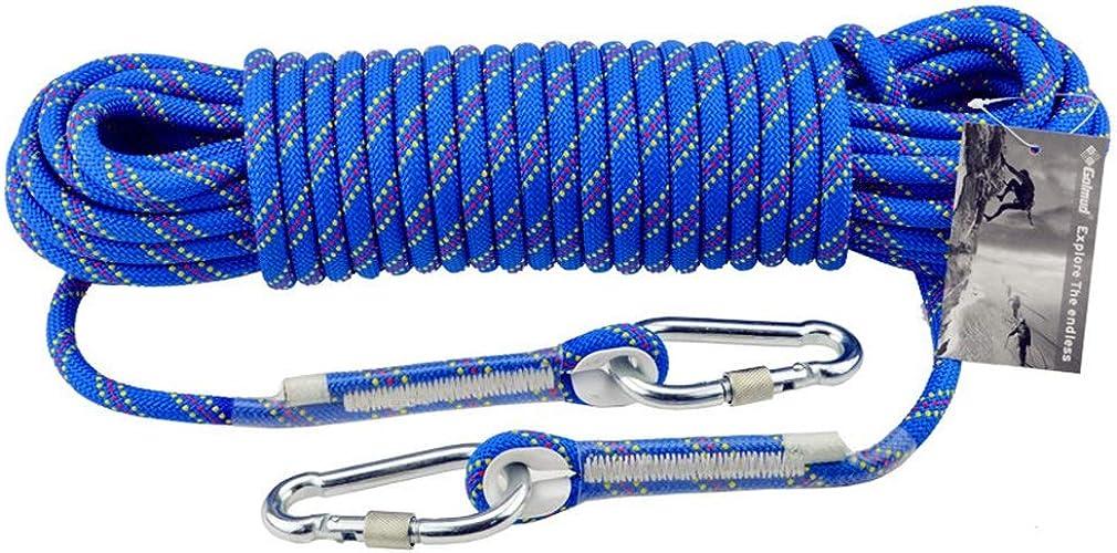 RKY Corde de sécurité d'escalade en plein air 10mm corde d'escalade Lifeline sauvetage sauvetage porter corde équipement de survie fournitures, 13 tailles Corde de sécurité (Taille   15M)