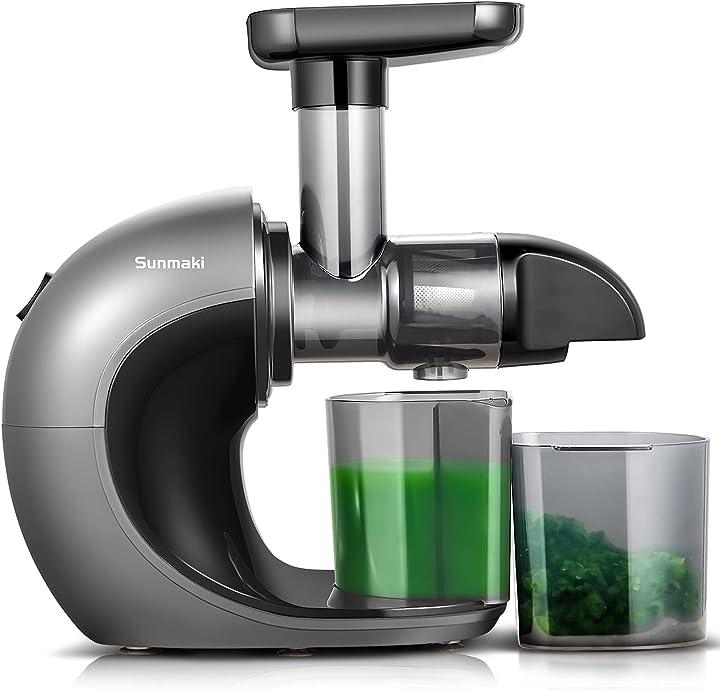 Estrattore di succo a freddo,sunmaki estrattore di frutta e verdura con motore silenzioso B08CMHH6HQ