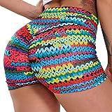 FITTOO Pantalones Cortos Leggings Mujer Mallas Yoga Alta Cintura Elásticos #2 Geometría B XL