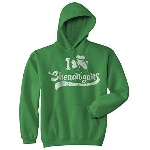 I Clover Shenanigans Hoodie Funny Saint Patricks Day Sweatshirt