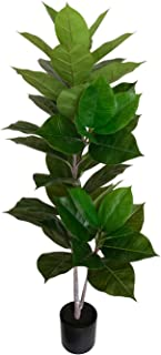 BESAMENATURE Artificial Rubber Tree Plant Faux Ficus Tree Used for Home Decoration, 49