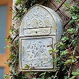 WXJ Buzón Rústico Montado en La Pared Bird's House Decor Post Box Holder Decoración Exterior Colgante para La Casa, Porche con Letras en Relieve Vintage 40 * 25.5 * 10CM