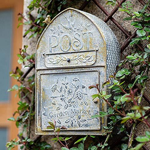 An Der Wand Montierter Rustikaler Briefkasten Bird's House Decor Briefkastenhalter Außerhalb Hängende Dekoration Für Haus, Veranda Mit Vintage Geprägtem Schriftzug 40 * 25,5 * 10CM