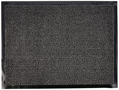 JVLFelpudoResistente Antideslizante,80x 60cm, Color Gris/Negro