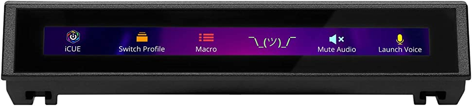 Tela sensível ao toque Corsair iCUE Nexus Companion – Tela diagonal de 5 polegadas – 6 botões macro virtuais programáveis...