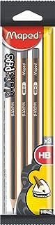 Maped Black'Peps 850011 Hb Graphite Pencils 3Pack