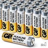 32 Piles AA Pack Economique par GP Batteries alcalines Piles LR6 1.5V AA Haute Performance