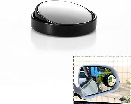 Semoic Tono de Plata 3 Espejo de Punto Ciego de Vista Trasera Convexo Redondo para Coche Auto