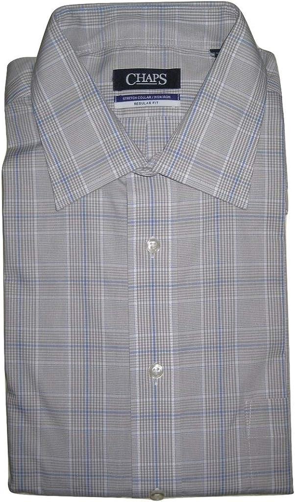 Chaps Men's Regular-Fit Ultimate No-Iron Stretch Spread-Collar Dress Shirt 16
