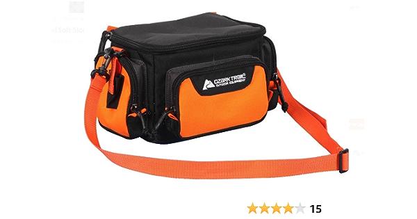 "Ozark Trail Tackle Bag with Organizer Totes 11/"" x 3/"" x 7 Orange//Black"