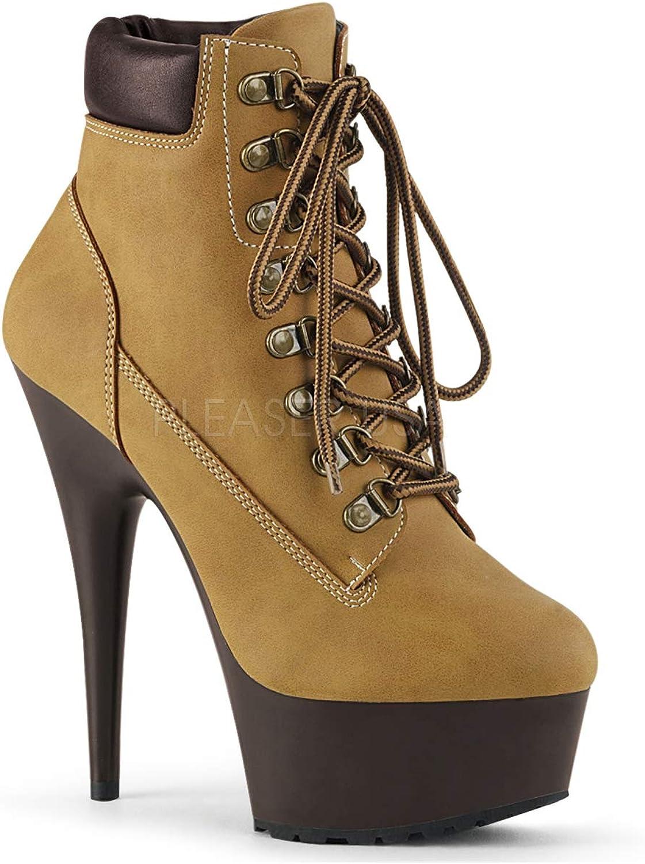 Pleaser Womens DELIGHT-600TL-02 TNB DBN Sandals