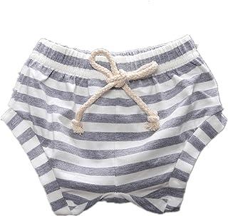 WINZIK Baby Kids Pants Striped Elastic Waist Shorts Bloomers Boys Girls Toddler Summer Outfits Casual Beachwear Pants