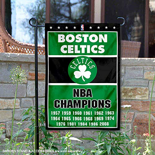 WinCraft Boston Celtics 17 Time Champions Double Sided Garden Flag