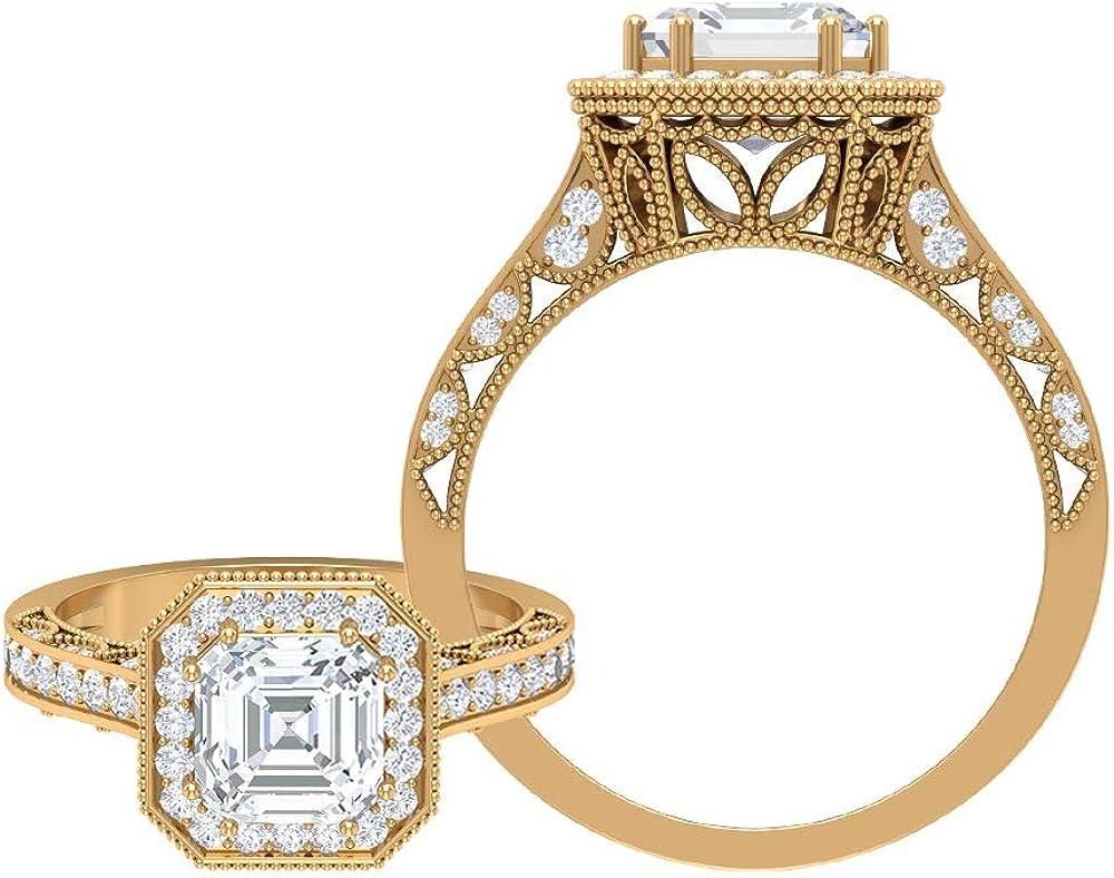 Statement Wedding Ring Solitaire 2.18 D-VSS Engagement Brand new Genuine CT