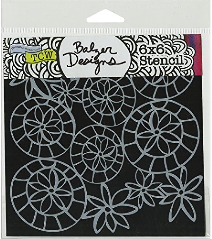 Crafters Workshop Striped Flower Circle Crafter's Workshop Template, 6 by 6 by CRAFTERS WORKSHOP B01KBBSVPS | Zuverlässige Leistung