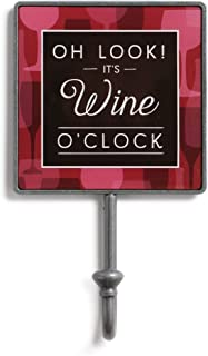 Will Cook For Wine Black and White 5 x 3 Metal Magnet Paper Epoxy Magnetic Hook